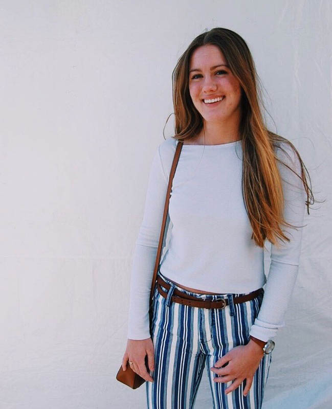 """Payton Schwantz - Schwantz describes her style as classier and aligns with older styles. Schwantz said she likes to dress older than her age regularly, more how her mom would dress.""""I wore it because it's super festive and in Denton, there is so much creativity and fun,"""