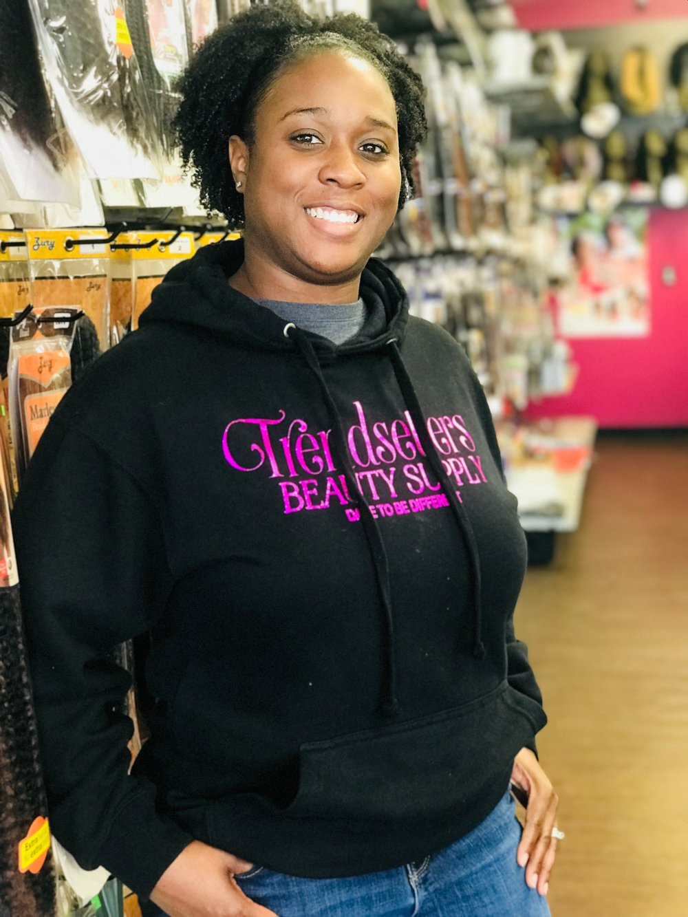 Stephanie Rice, owner of Trendsetter's Beauty Supply.  Photo by Jade Jackson.