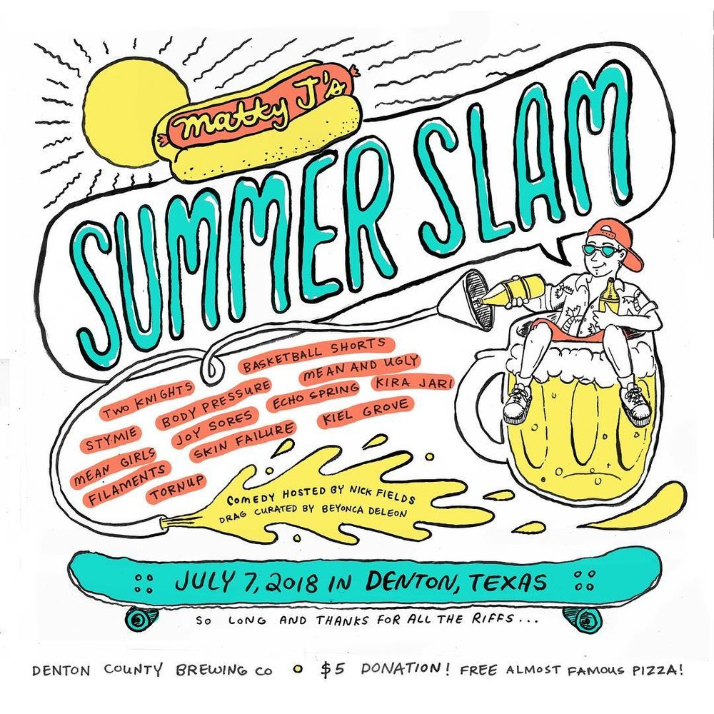 Summer Slam poster design by Andi Harman
