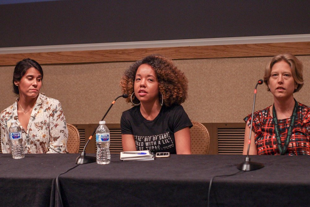 From left to right: Andrea Valdez (editor at WIRED magazine), Christina Tapper (managing editor at Bleacher Report Magazine), Denise Kersten-Wills (senior editor at The Atlantic)