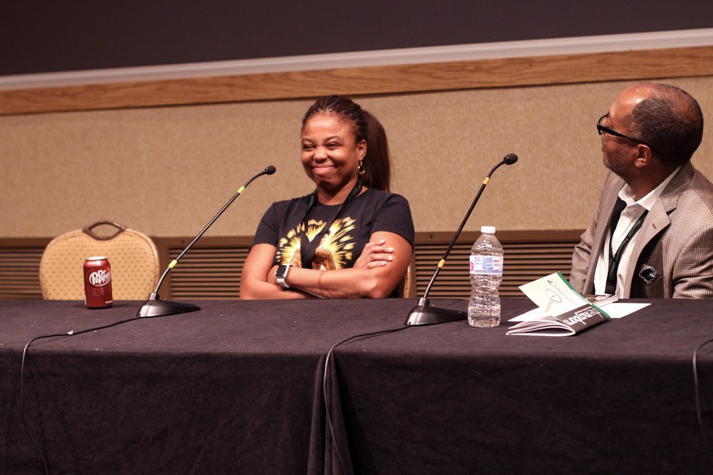From left to right: Jemele Hill, Kevin Merida