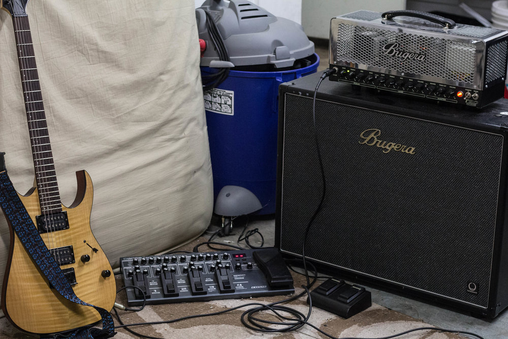 SPEAKER -  Bugera 2x12 Speaker   AMP -  Bugera Full Tube Amp   GUITAR - Ibanez RG Series  PEDAL -  BOSS ME-80 Multi-effects