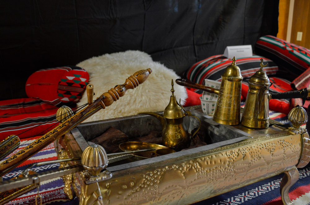 A traditional drinking set