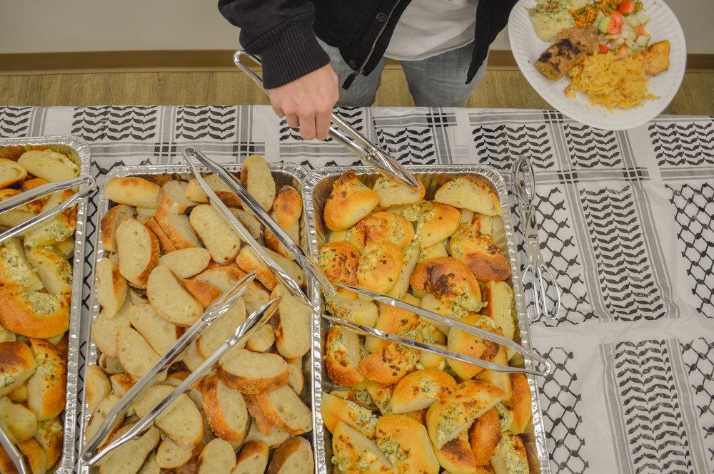 Traditional Mediterranean bread served at the Broken Film Festival