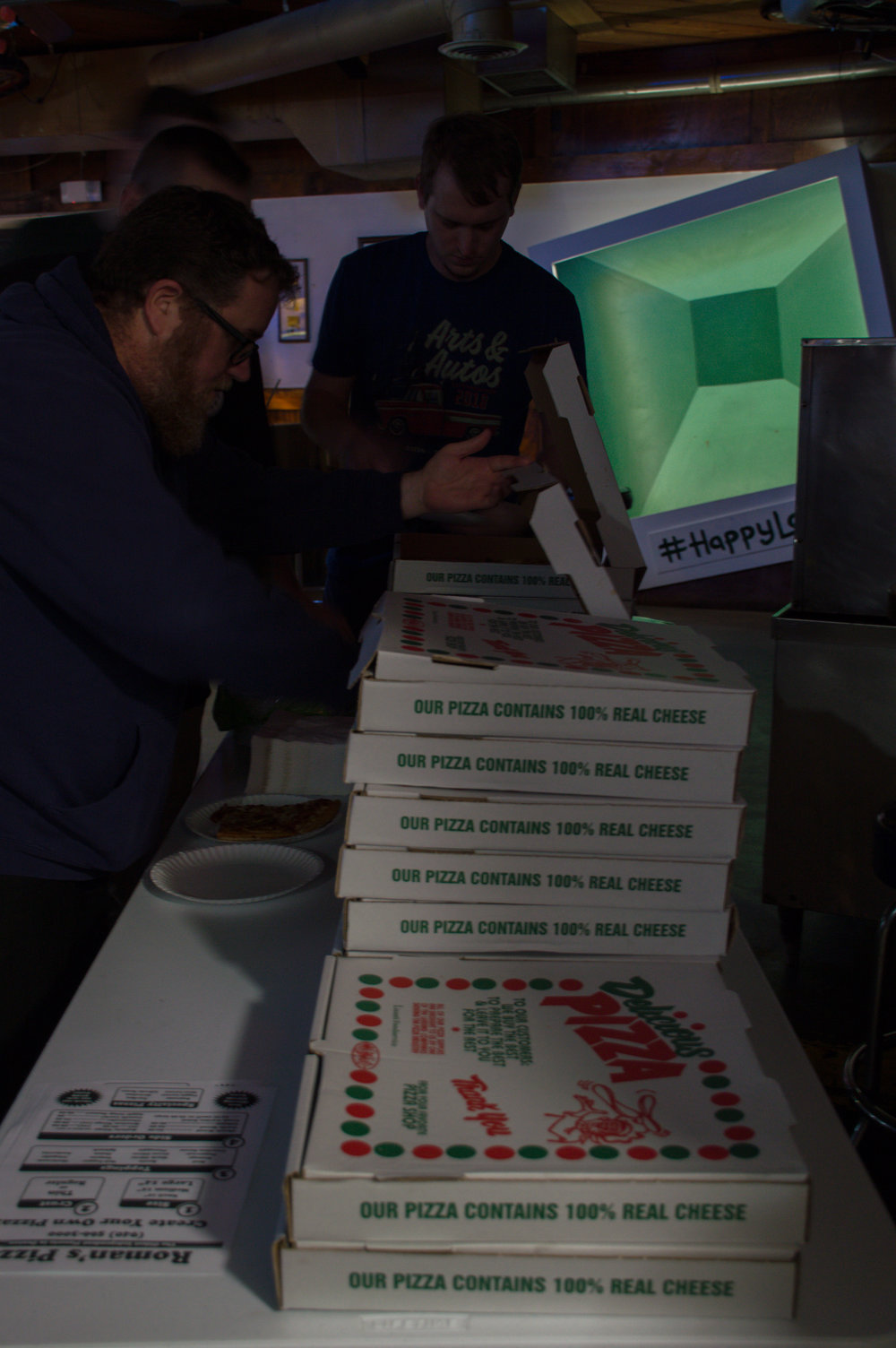Free pizza was given out for all the fans