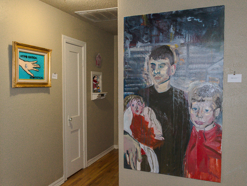 Paintings by the 'Rat Pack' hung on walls around the house.