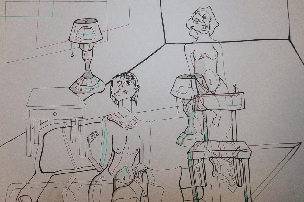 Line drawing by Sarah Wuenscher.