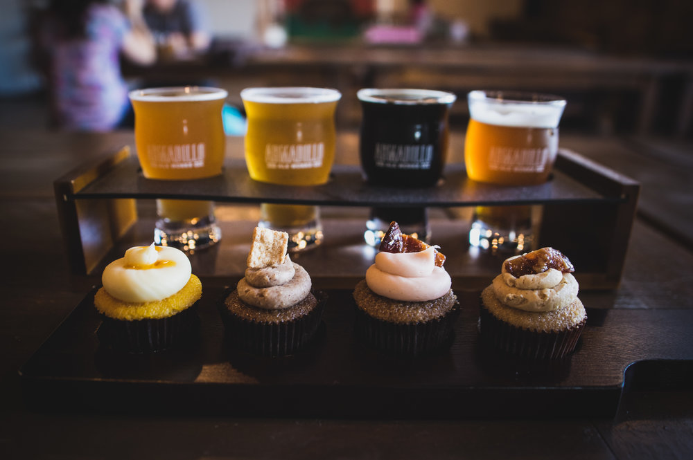 A beer and cupcake pairing held at Armadillo Ale Works last year, featuring cupcakes by Kitty Bunny Bakery.