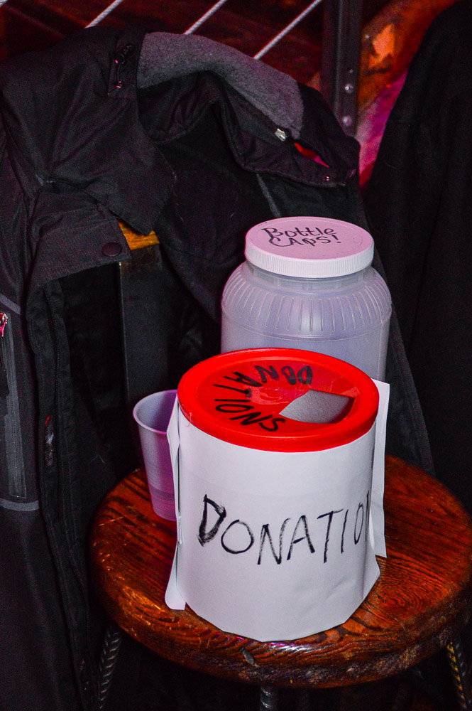 Donation box - all donations for charity against sexual and woman violence.