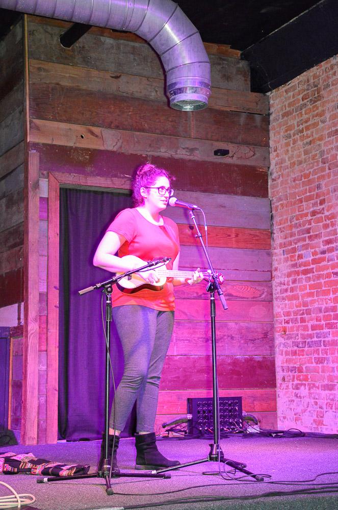 Comedian Juliana Gold performing.
