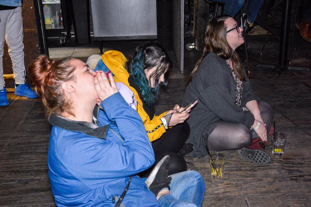 Crowd enjoying the V-riety show.
