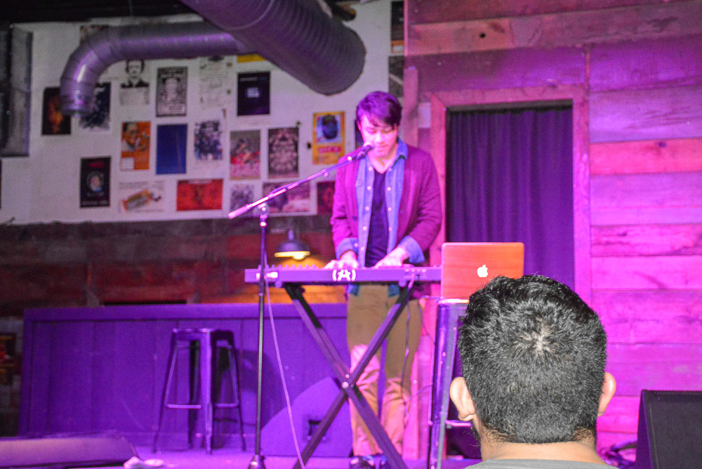 Noah Massey performing.