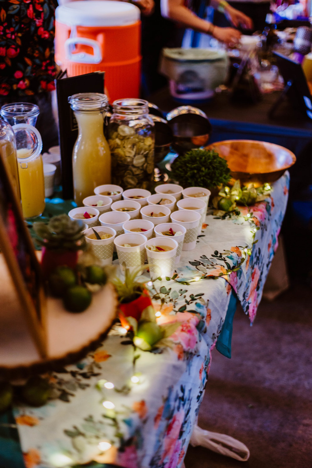 Some of the many displays of hand-crafted margaritas at the event.
