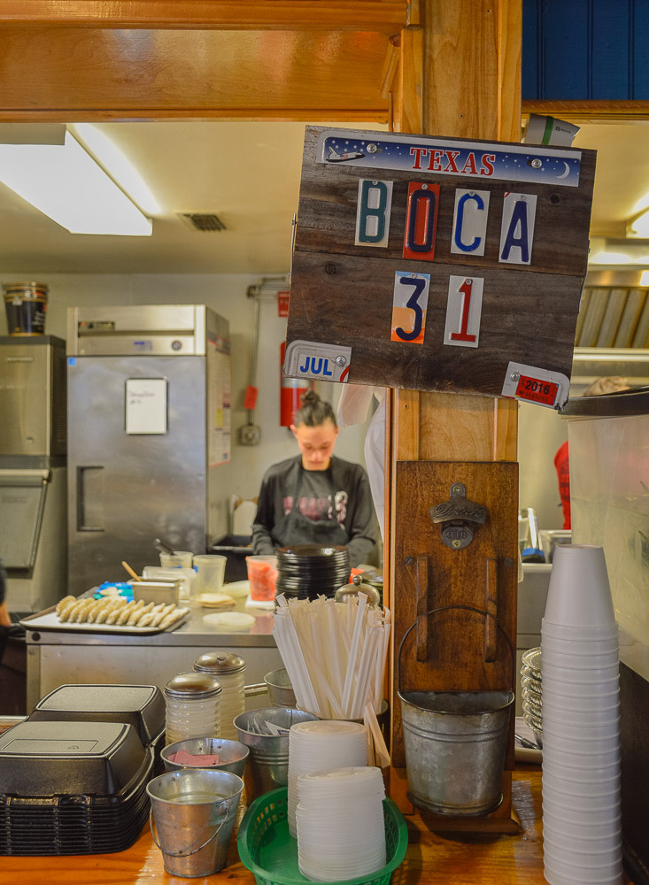 BOCA 31 details and cook in the background.