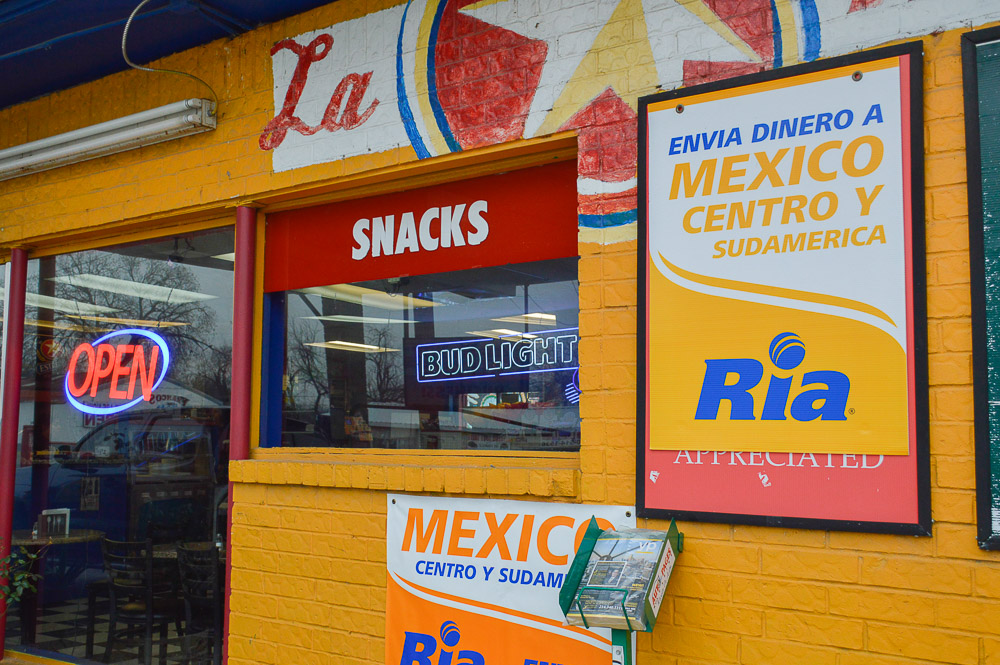 Not just a place to come eat: you can send money back to Mexico or South America, making La Estrella Mini Mart a place to not just gather around a table but to connect to family back home.