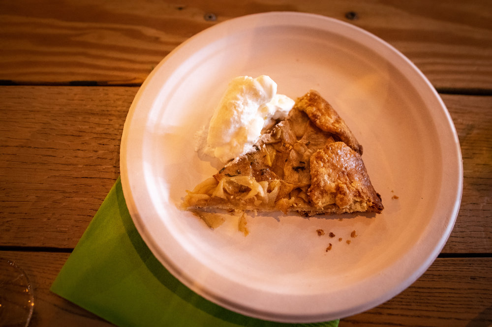 The apple galette; a French farmer's pie.