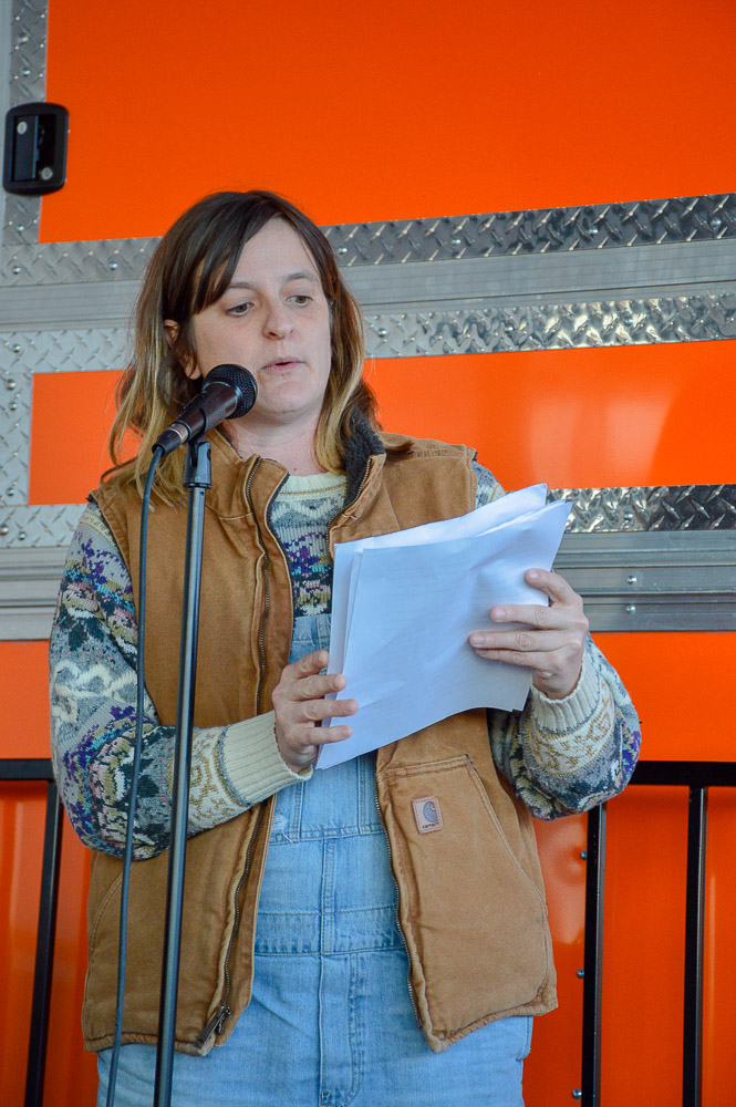 Patton Quinn reading for the event.