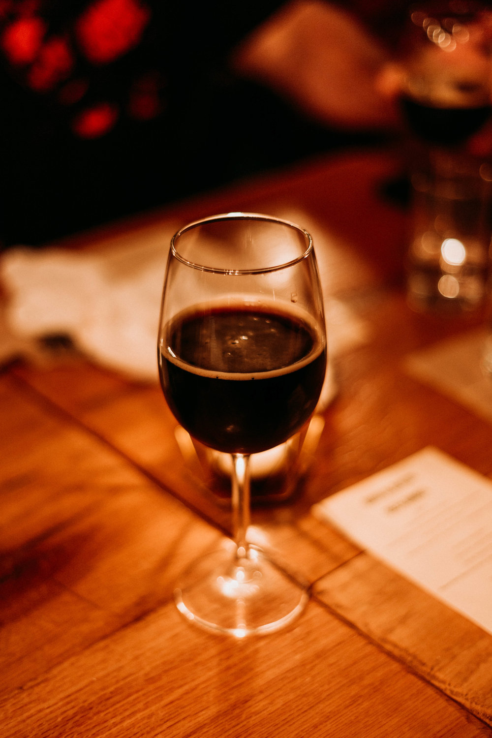 Armadillo Ale Works' Quakertown Stout, the beer pairing for the fifth course