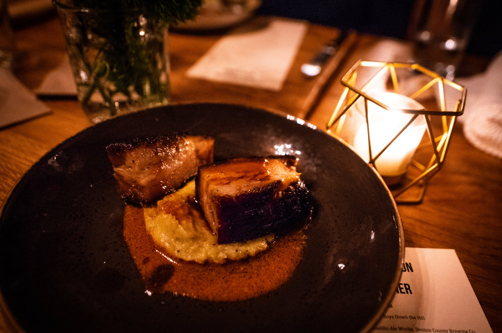 The fourth course - Slow Roasted Pork Belly.