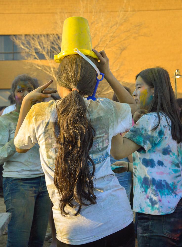Students enjoying the celebration.