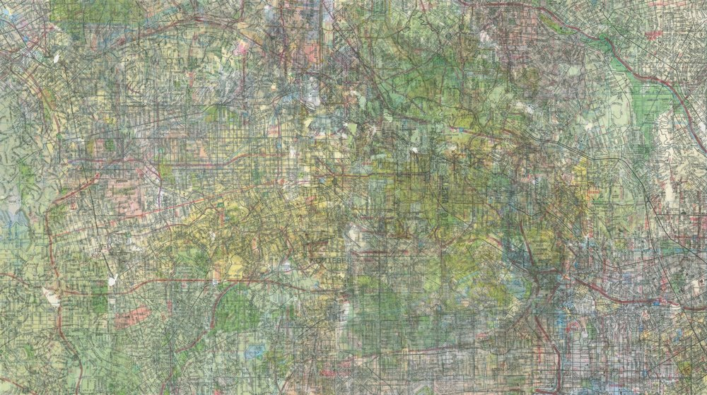 "HIGHLAND PARK (detail) 9 x 16""."
