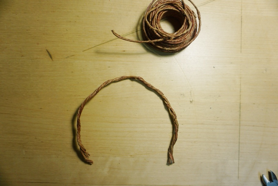 4. Bend into headband shape