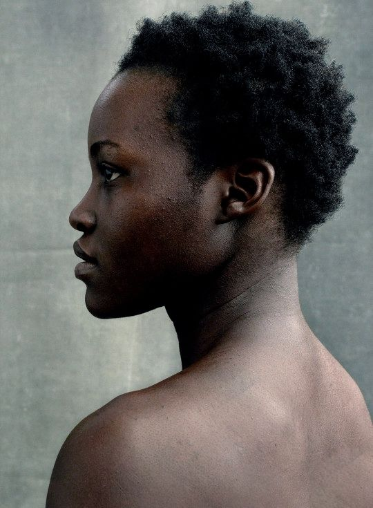 Even completely bare, Lupita kills it!