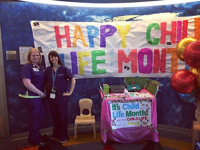 March is Child Life Month, but we are inspired by these specialists today & every day. Very grateful for their continuous help & support 🎨