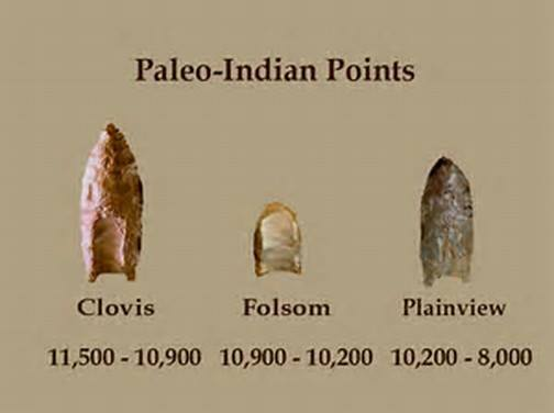 This shows the different types of points that were discovered from the people that lived in Western Colorado and Utah.