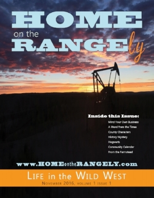 First Issue of Home on the Rangely, November 2016