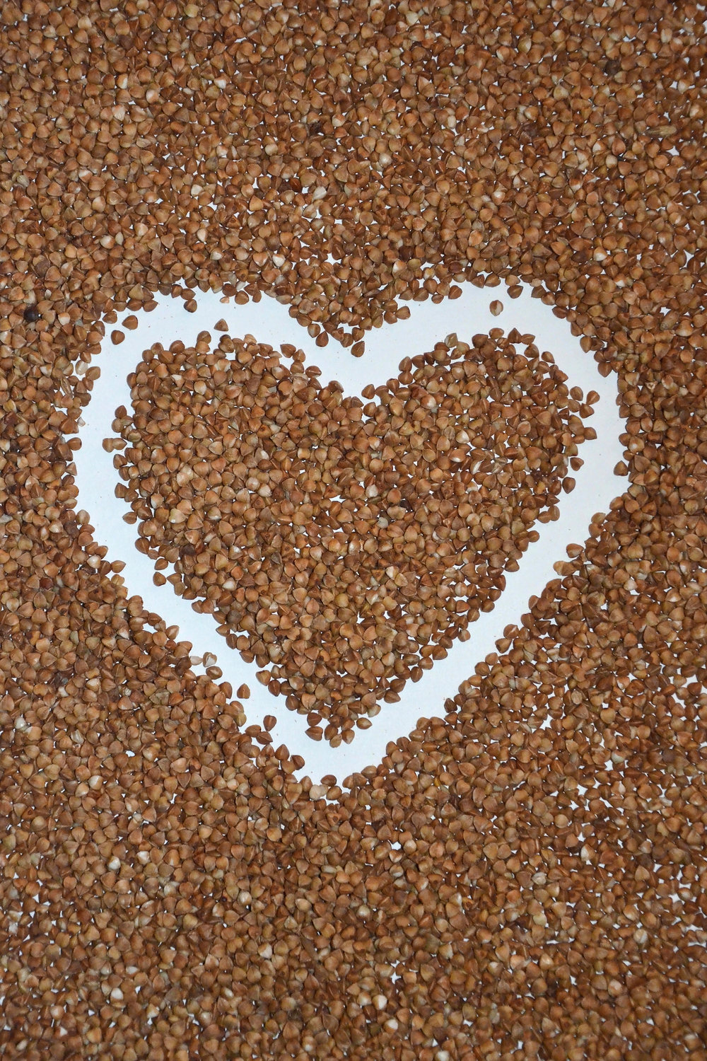 Image of buckwheat before it's turned into flour. Good for crafts and other fun recipes as well. Image from www.freeimages.com
