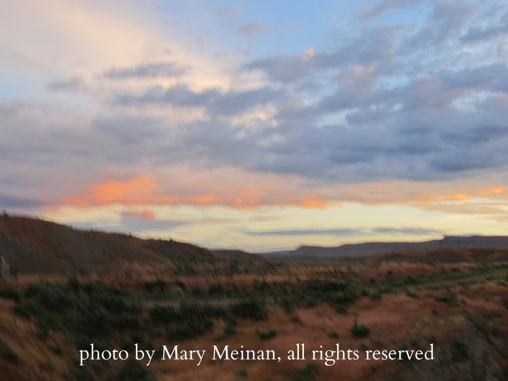 The ridges near Rangely, the remnants of the Rocky Mountains as they gradually transition into the high desert mesa country of Northwest Colorado. Photo by local artist and photographer Mary Meinan.