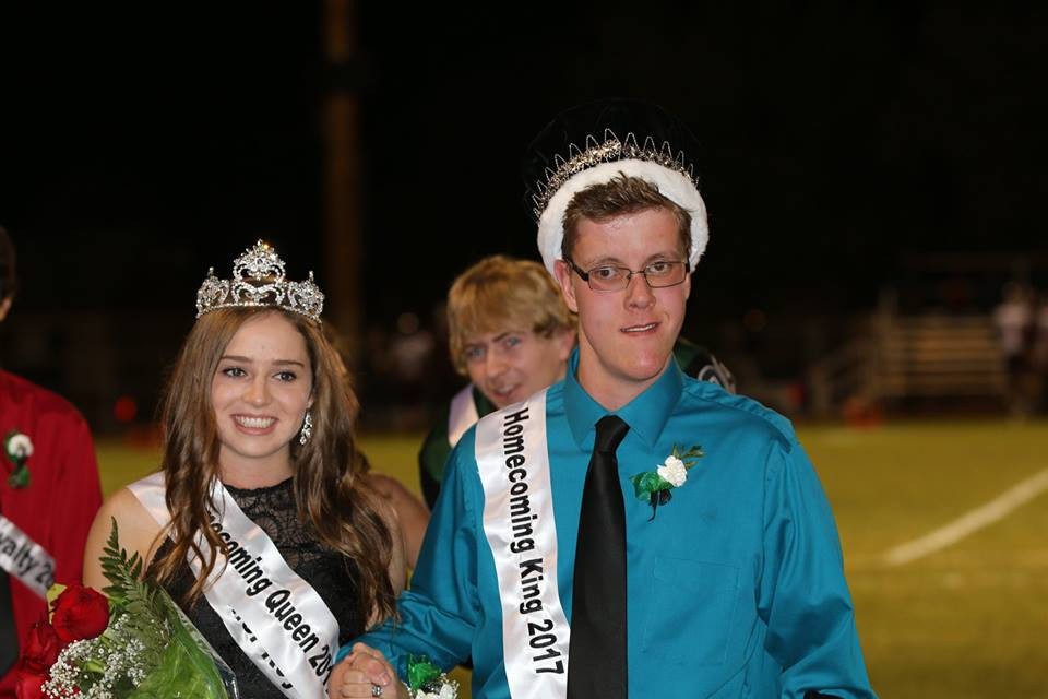 Homecoming Royalty. Congratulations to Katelyn Brown and Josh Polley, Queen and King for 2017!