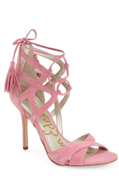 Azela Tasseled Lace-Up Sandal by Sam Edelman
