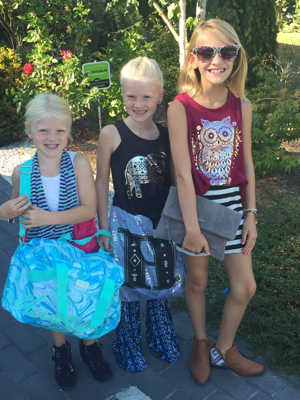 The girls were excited to shop for back to school clothes that weren't uniforms:)