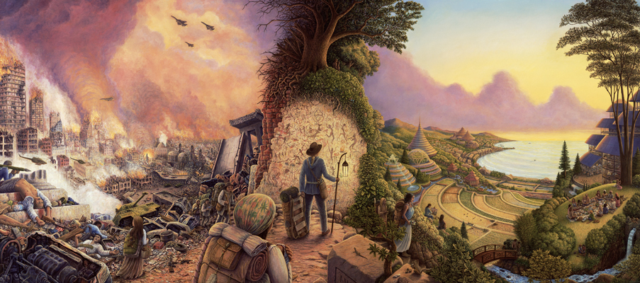 """New Pioneers"" by artist Mark Henson.   http://markhensonart.com/welcome"
