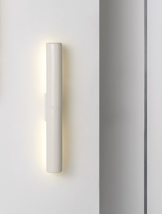Potter DS Wall Light in White Glaze Finish