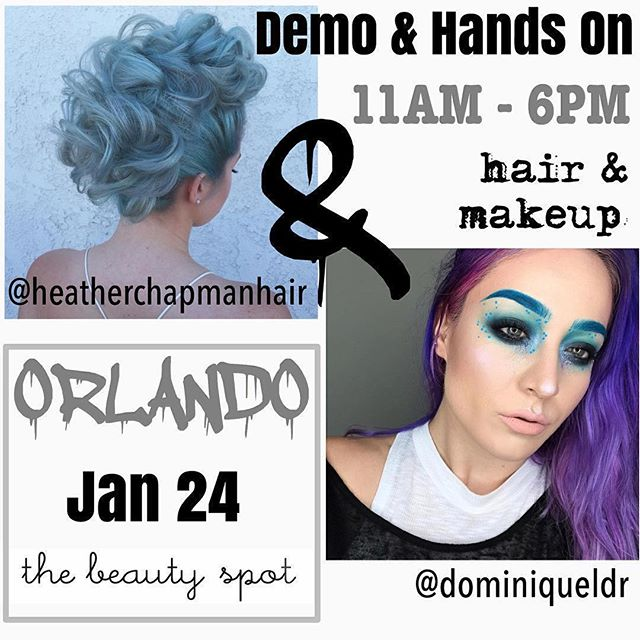 DON'T FORGET!!! 🎈🎉 #Repost @thebeautyspot ・・・ We are SO STOKED to announce @dominiqueldr & @heatherchapmanhair will be hosting their HAIR & MAKEUP workshop at #thebeautyspot 💕✨🤘🏻 Make sure you go to their pages/bios for links to purchase tickets because they are super limited!!! Also, stay tuned for a couple more amazingggggg announcements ...(possible giveaways) from your favorite #pinkpalace in #collegeparkfl 😁💁🏻💋 •••••••••••••••••••••••••••••••••••••••••••••••••••••••••••••••••••••••••••••••• #Repost @dominiqueldr ・・・ 💥💥Its' happening💥💥 I will be in Orlando with @heatherchapmanhair to TEACH! We will be doing a full day, hands-on makeup & hair workshop at the gorgeous @thebeautyspot • Live models, Q&A, tips, tricks, techniques, fun!⚡️⚡️⚡️Tickets are limited⚡️⚡⚡️️ Link in my BIO for ticket sales -or -www.heatherchapmanhair.com under 'tour dates'. There aren't more dates scheduled just yet, so jump on it! I can't wait to meet you guys!!!