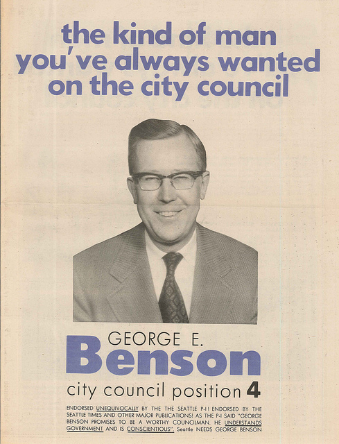 George Benson's City Council campaign poster.
