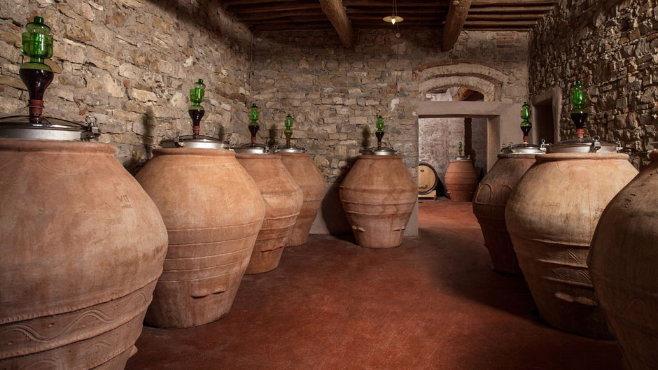 amphoras to ferment and age wine in georgia.