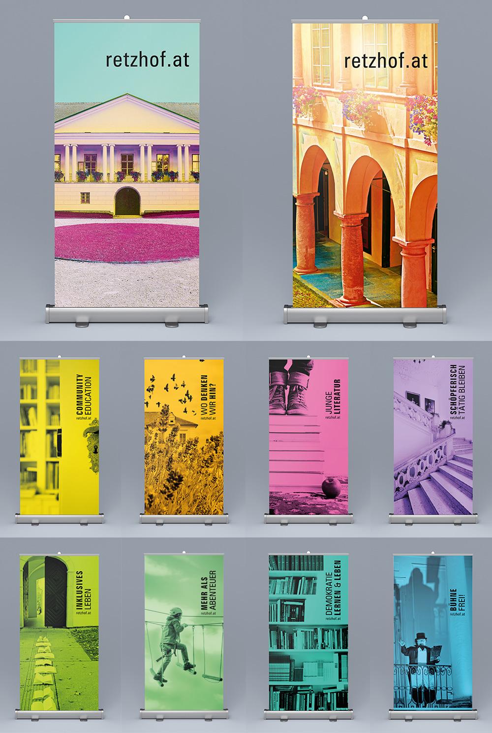 Neue Rollups für das Bildungshaus.  Weil das Leben (wie der Retzhof) viele Farben hat! ;)