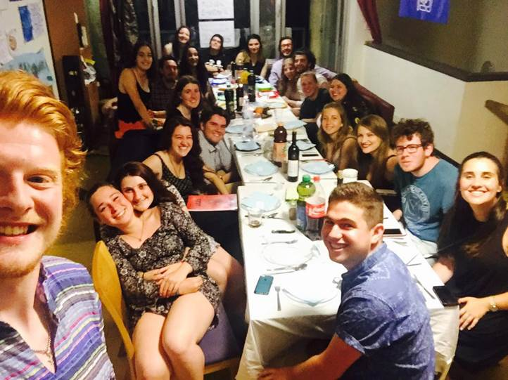 Shnat Maayan Shabbat dinner Weekly Report 28/04/16