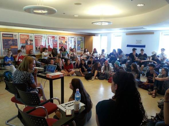 Rosa and Noa leading LJY- Netzer Israel Tour