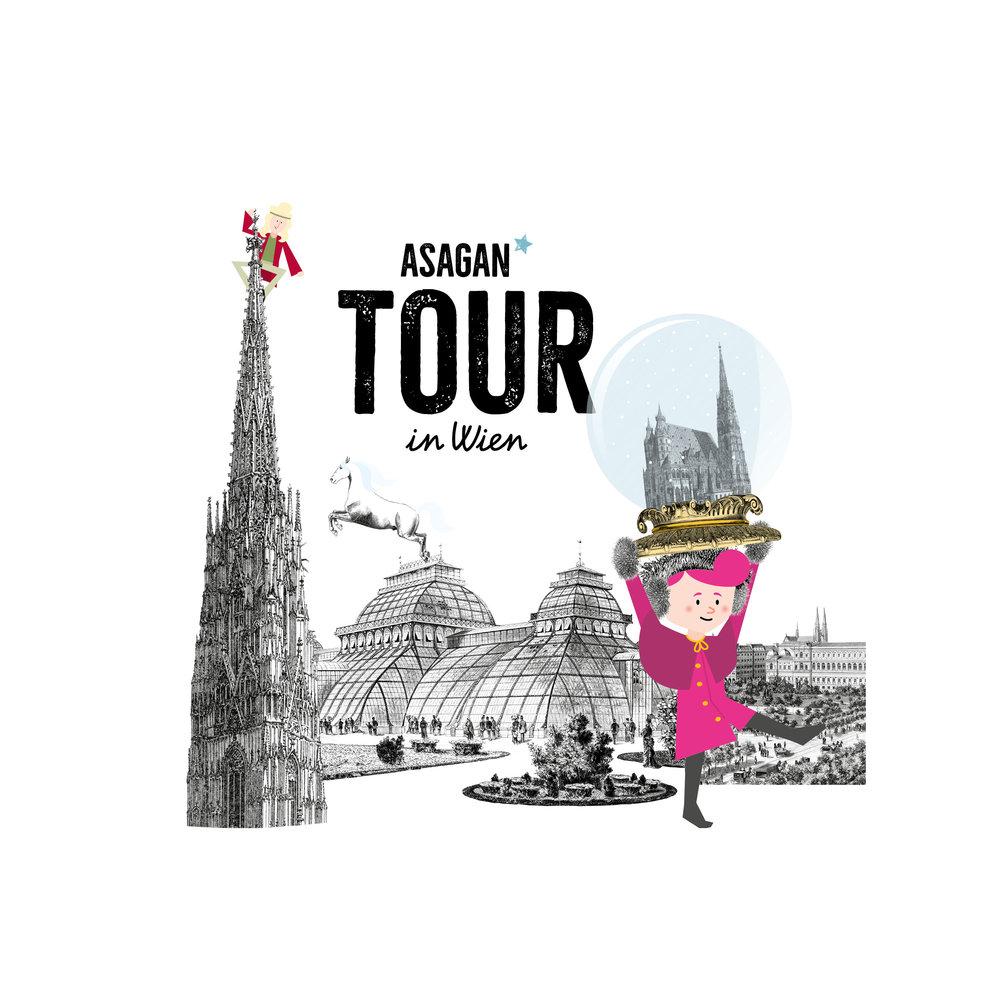 Am Stephansplatz startet die Tour von ASAGAN durch den 1. Bezirk …