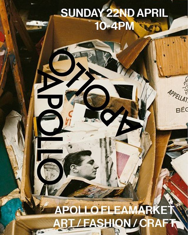 A•P•O•L•L•O  F•L•E•A•M•R•K•E•T  Come by @apollo_bar tomorrow for the new monthly Apollo flea market - 10.00 - 16.00 ☀️