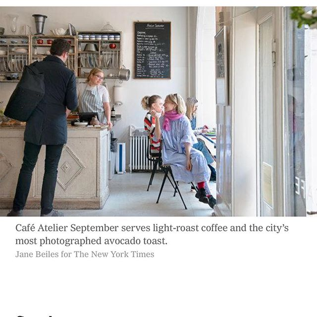 Thank you @nytimes for suggesting us as one of the must visits cafes in Copenhagen 🙏 we are deeply honored