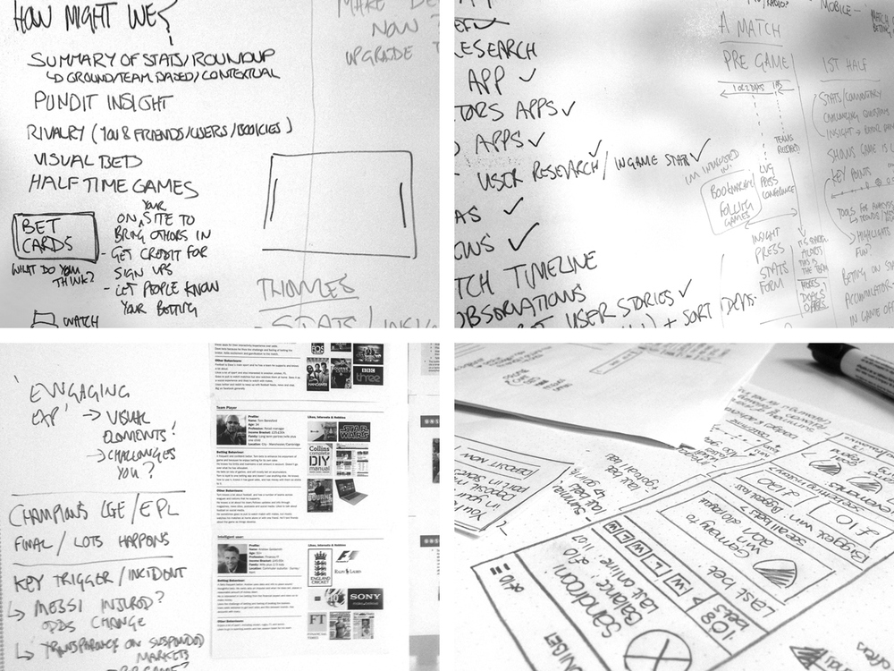 Developing user stories and functionality concepts