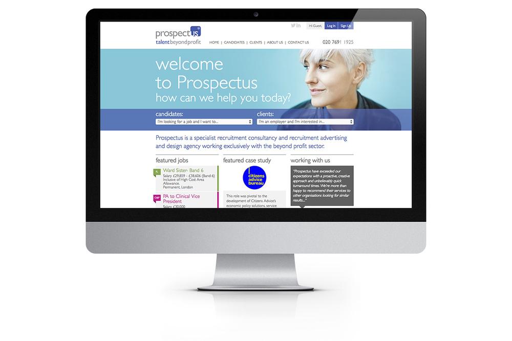 Prospectus homepage