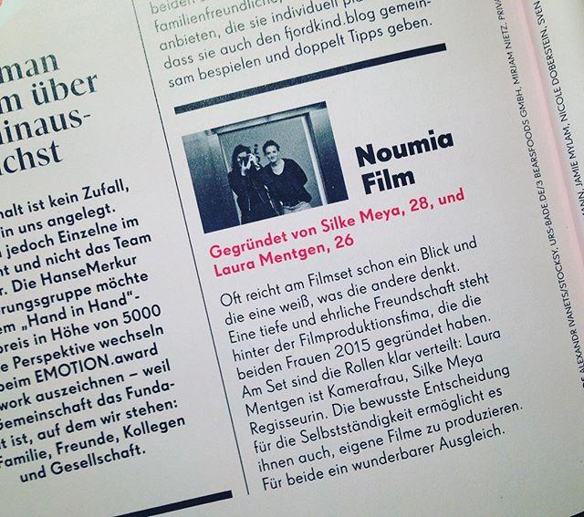 #nominierung #handinhand Sonderpreis! Merci🐣 #emotionmagazin
