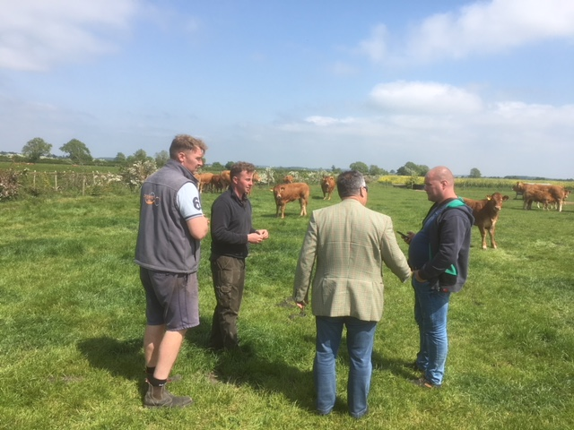 With hosts James & Duncan Hazard at Mereside Limousins